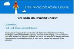 Bild zu Workshop: Free MOC On-Demand First Look Clinic: Microsoft Azure OD99995AC, Cloud Computing Fundamentals OD99994AC, Windows Server 2016 OD41389AC